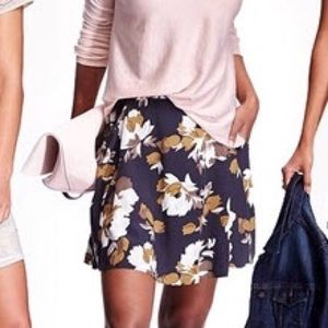 Old Navy Fall Floral Print Flowy Skater Skirt